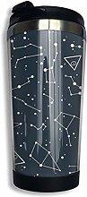 Edelstahl-Kaffeetasse Space Cosmic Constellation