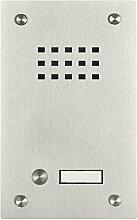 Edelstahl Klingel BASIC 529-VA mit Sprechsieb (1