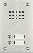 Edelstahl Klingel BASIC 529-VA mit Sprechsieb (2