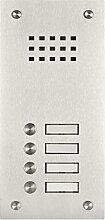 Edelstahl Klingel BASIC 529-VA mit Sprechsieb (4