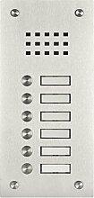 Edelstahl Klingel BASIC 529-VA mit Sprechsieb (6
