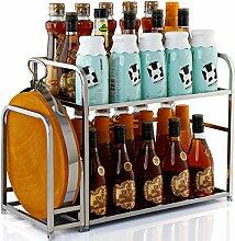 Edelstahl Küchengerät Rack und Rack 2 Layer Storage Rack lieferbar Rack, 40 cm Schneidebre