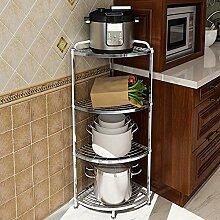 Edelstahl Küchenregal 2/3/4 Schicht Pan Storage