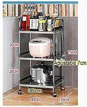 Edelstahl-Küchenregal Bodenmontage