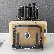 Edelstahl Küchenregal Messer Pan Pot Deckel Regal