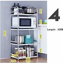Edelstahl-Küchenregale, Mikrowelle, Backofen,