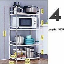 Edelstahl Küchenregale Mikrowelle Küchenregale
