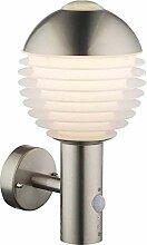 Edelstahl LED Außen Wandlampe,Bewegungsmelder,