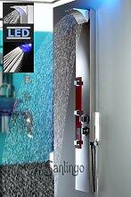 Edelstahl LED Duschpaneel Spiegel Duschsäule mit