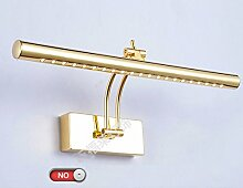 Edelstahl-LED-Spiegel-vordere Lampen-Badezimmer-Spiegel-Kabinett-Lichter Wasserdichter Anti-fog ( Farbe : Weiß-5W40cm-Without switch )