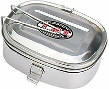 Edelstahl Lunchbox Brotdose Mit 2 Ebenen Fächern