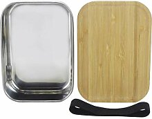 Edelstahl Lunchbox Metall Brotdose Vesperbox Bento