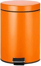 Edelstahl mülleimer anti-fingerprint versiegelt platz wohnzimmer küche pedal mülldosen ( Color : Orange )