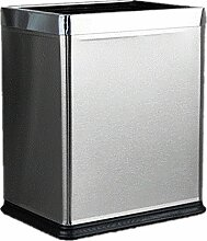 Edelstahl Mülleimer Haushalt Mülleimer Materialien Edelstahl-Spezifikationen 230 * 265 * 275mm Large Rectangular keine Abdeckung Mülleimer