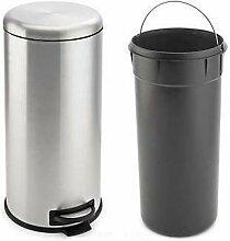 Edelstahl Mülleimer Treteimer Abfalleimer wahlweise 20L oder 30L (30L)