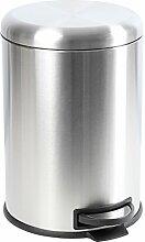 Edelstahl Mülleimer Treteimer Abfalleimer wahlweise 20L oder 30L (20L)