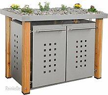 Edelstahl Mülltonnenbox für 2 Tonnen 240L mit