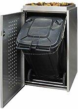 Edelstahl Mülltonnenbox für eine 240L Tonne mit
