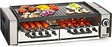 Edelstahl Multi Tisch-Grill mit 1600 Watt (Elektrogrill, Wurst-Gill, Hot-Dog-Maker, Schaschlik-Spieße)