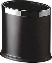 Edelstahl Oval Doppel-Mülleimer kann nicht abdecken Haushalt Toilette Abfalleimer ( Farbe : Iron paint )