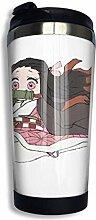Edelstahl Reise Kaffeetasse, Tiny Nezuko Cuter