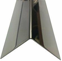 Edelstahl Spiegel Eckprofil 2500mm 50x50 mm K240