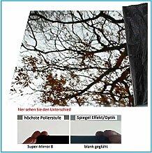 Edelstahl Super-Mirror 8 2500x625x0,8mm Blechspiegel Spiegel Reflektor Wandspiegel Deckenspiegel Fliesenspiegel