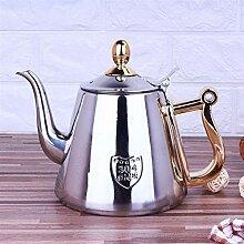 Edelstahl-Teekanne, 1 Stück, 1,2 l,