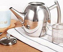 Edelstahl-Teekanne, 1500 ml, große Kapazität,
