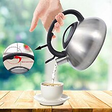 Edelstahl-Teekanne 3L Edelstahl Pfeifkessel