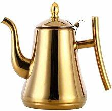 Edelstahl Teekanne, Gold und Silber Wasserkocher,