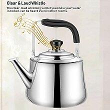 Edelstahl-Teekanne, Kochplatten und Pfeife
