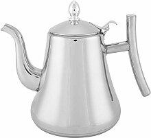 Edelstahl-Teekanne mit Aufguss, Teekessel für