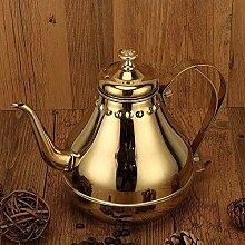 Edelstahl-Teekanne mit Filter für Hotel,