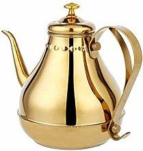 Edelstahl Teekanne Schwanenhals Gießen Kaffee Tee