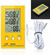 Edelstahl Thermometer Hygrometer für Sauna
