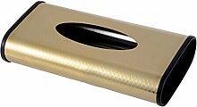 Edelstahl Tissue Box Pumping Kartons Hotel KTV Wohnzimmer Couchtisch Papier Serviette Bar ( Farbe : A )
