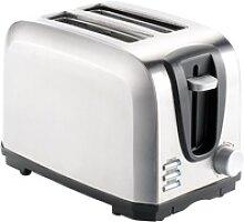 Edelstahl-Toaster für 2 Scheiben, 650 W