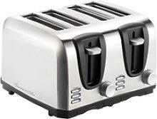 Edelstahl-Toaster für 4 Scheiben, 1300 W