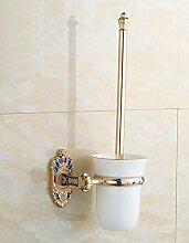 Edelstahl-Toilette Toilette WC-Bürstenbecherhalter Anzug Keramik Bad-Accessoires Retro-Anzug