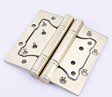 Edelstahl Türscharniere Scharnier 4 Zoll innen Tür-Hardware-Zubehör,Gold, 4 Zoll