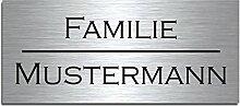 Edelstahl Türschild mit Gravur | Namensschilder