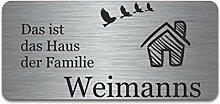 Edelstahl Türschild mit Gravur   Namensschilder