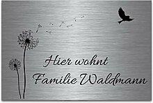 Edelstahl Türschilder mit Gravur | Namensschilder