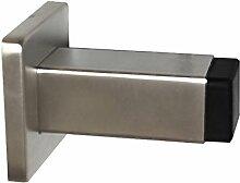 Edelstahl Türstopper TS 2165 Quadrat Wandmontage