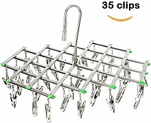 Edelstahl Wäscheständer mit 35 Clips, Space