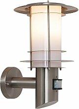 Edelstahl Wandlampe Aussenleuchte mit Bewegungsmelder BT1005 UP PIR Wandleuchte Leuchte