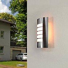 Edelstahl Wandlampe Modern außen IP44 blendarm