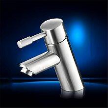 Edelstahl Waschbecken mit warmen und kaltem Wasser Waschbecken WC ersetzen müssen einzelne Bohrung Mixer, Waschtisch Armatur