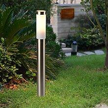 Edelstahl Wegleuchte 80cm hoch IP44 Spritzwasserschutz Außenlampe Hoflampe Gartenleuchte
